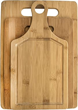 Davis & Waddell DES0228 Bamboo Cut Board with Stand, Natural