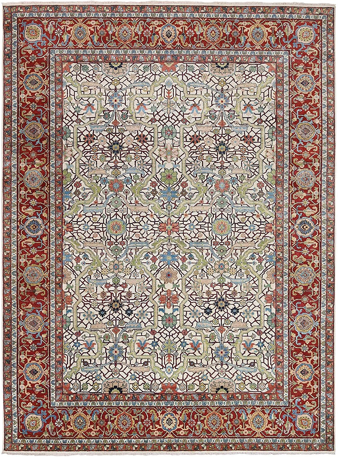 Shahbanu Rugs Pure Wool Natural Dyes Hand Ru Finally It is very popular popular brand Heris Beige Knotted