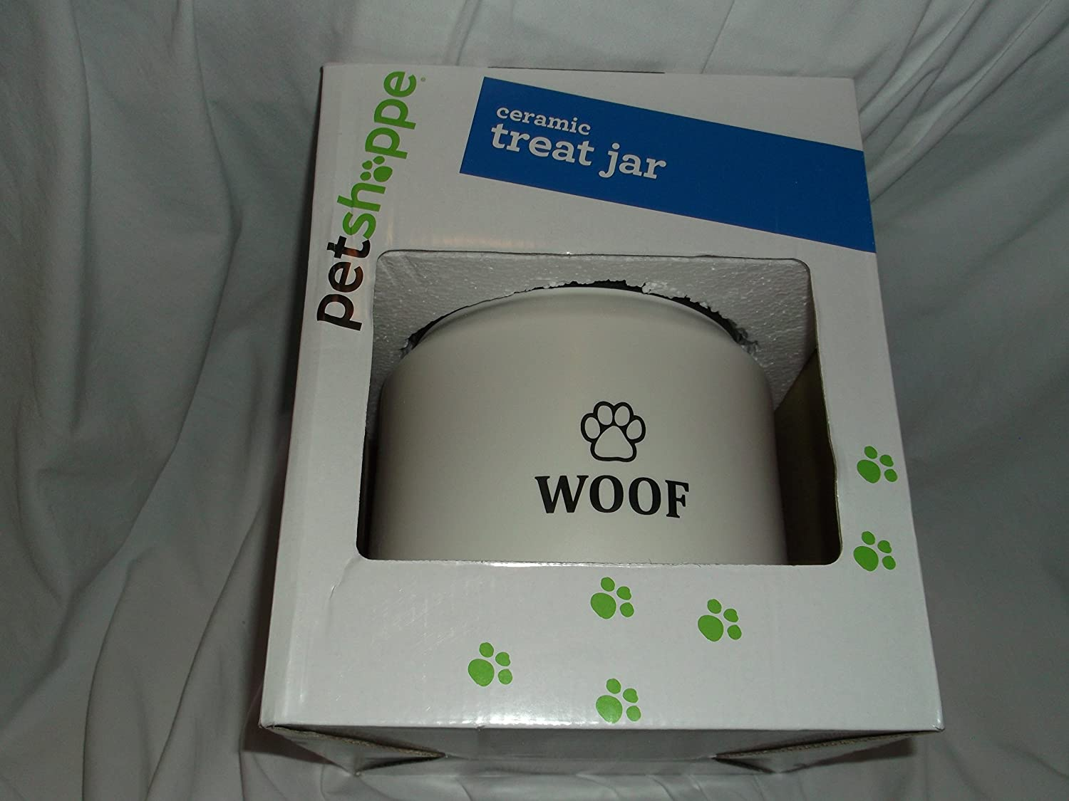 Pet Shoppe Ceramic Treat Jar White