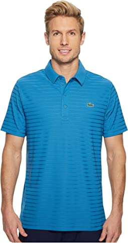 Lacoste Short Sleeve Golf Ultra Dry Tech Jersey Solid Jacquard Polo