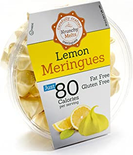 Original Meringue Cookies (Lemon) • 80 calories per serving, Gluten Free, Fat Free, Nut Free, Low Calorie Snack, Kosher, P...