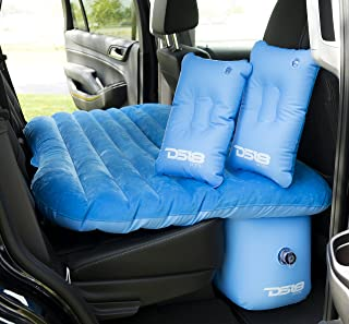 DS18 AUTO-MAT/BL Blue Multifunctional Pet Friendly Mattress Inflated Bed Cushion Camping Universal SUV Car Back Seat, Pump for Travel with 2 Air Pillows