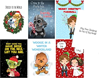 Silly Goose Gifts Galaxy Far Far Away Star Wars Themed Greeting Card Set (Set of 7) with Envelopes