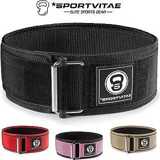 comprar comparacion Sportvitae - Cinturón Musculación para Crossfit Halterofilia Powerlifting - Protección Lumbar Ligero Resistente Ajustable ...