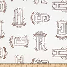 Wizarding World Harry Potter Houses Tonal in Cream Fabric by The Yard