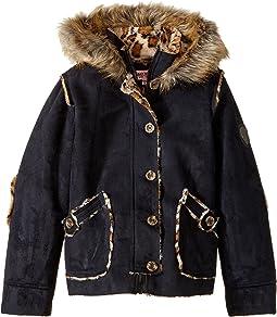 Hooded Ultra Suede Faux Shearling Jacket (Little Kids/Big Kids)