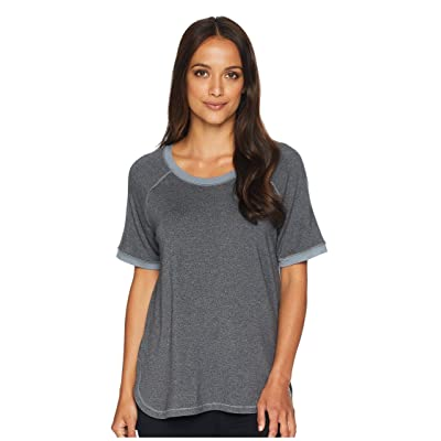 Felina Jamie Marl Terry Scoop Neck Raglan Sleeve Top (Trade Winds) Women