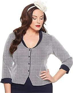 Unique Vintage - Plus Size Chevron Anne Sleeved Jacket