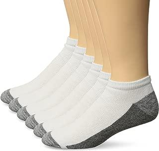 Men's ComfortBlend Max Cushion 6-Pack White Low Cut Socks