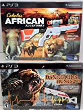 Sony Playstation 3 PS3 2-GUN BUNDLE Cabela's Dangerous Hunts 2013 & African Adventures Hunting Game Set