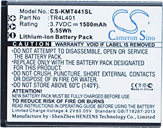 Battery 1500mAh Replacement for KAZAM TR4L4044044-01, Trooper 440L, Trooper 441L, KAZAM TR4L40, TR4L401