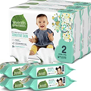 Seventh Generation Size 2 Diapers and Wipes Box - 108 Diapers and 256 Wipes