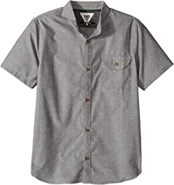 VISSLA Kids - The Hook Short Sleeve Oxford Woven (Big Kids)