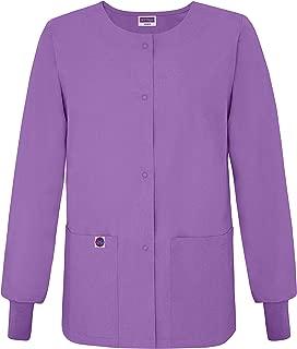 Women's Scrub Warm-up Jacket/Front Snaps - Round Neck