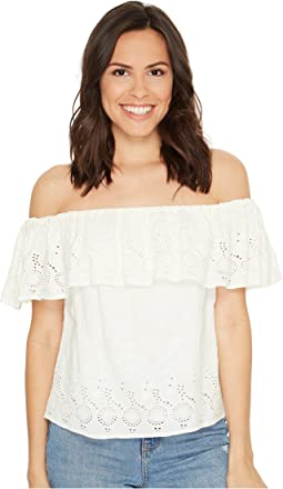 Lucky Brand - Eyelet Off the Shoulder Top