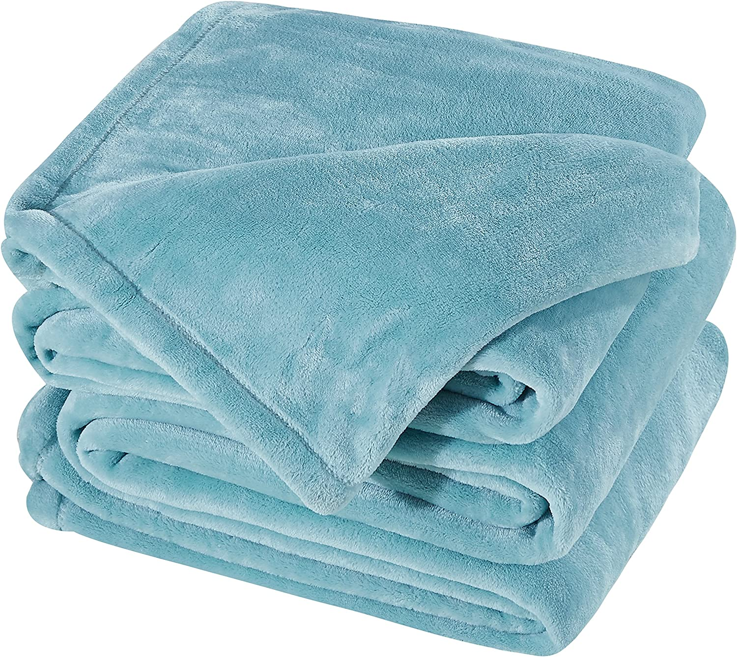 SONORO KATE Fleece Blankets All Season 350GSM - Premium Lightweight Throw for Bed Extra Soft Brush Fabric Warm Sofa Queen Size(Turquoise, Queen)