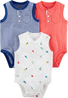 Carter's Baby Boys' 3-Pack Short-Sleeve Polo-Style Bodysuits