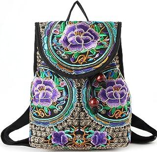 Goodhan Vintage Women Embroidery Ethnic Backpack Travel Handbag Shoulder Bag  Mochila 8e2e8cf1089bf