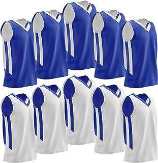 پکیج از 10 عملکرد قابل برگشت مش مردان در ورزش های بسکتبال ورزشی - لباس تیم خالی برای بخش عمده فروشی ورزشی