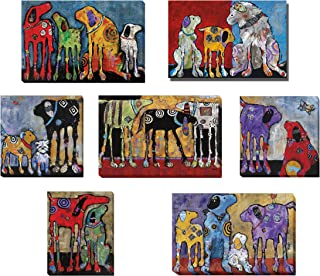 Pet Hospital, Kennel, Doctor or Dentist Office 7-Piece Dog Artwork Collection by Jenny Foster Premium Gallery-Wrapped Canvas Giclee Art Set (Medium Set, Ready to Hang)