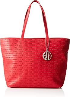 Armani Exchange Tote Bag  for Women-Red