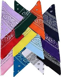 QUMAO Pañuelos Bandanas de Modelo de Paisley para Cuello/Cabeza Multicolor Múltiple para Mujer y Hombre