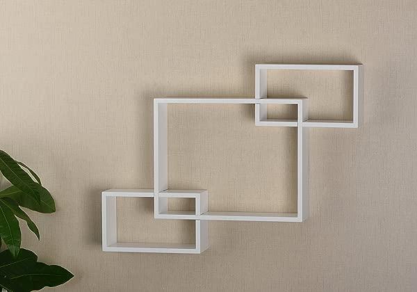 V LIGHT Interlocking Wood Wall Cubes White