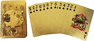 Spreezie Gold/Silver Playing Cards 24k Gold Foil Plated Full Deck Poker Gamble Game Waterproof