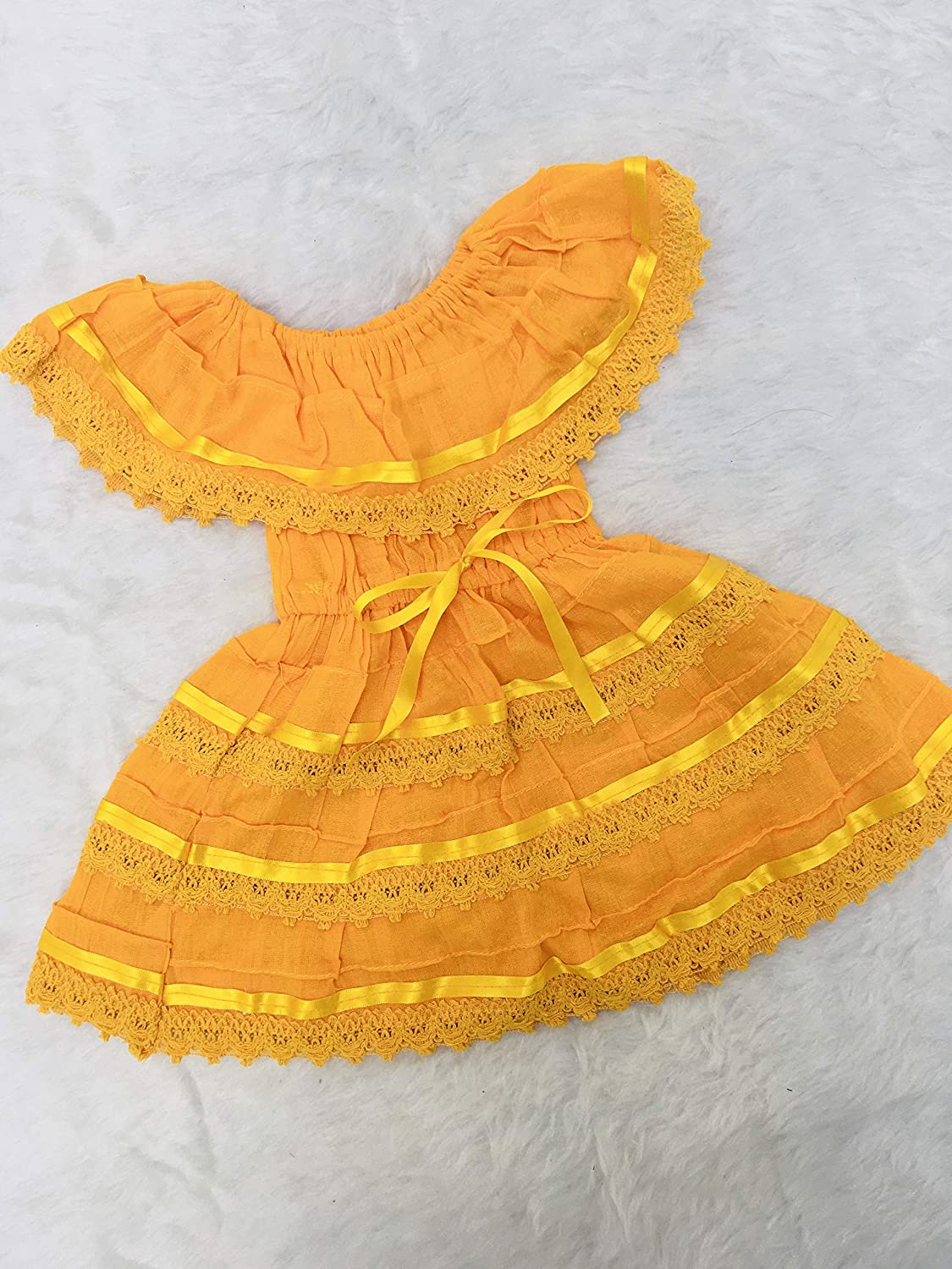 Campesino yellow dress trend rank for 2 old baby Max 76% OFF girl years