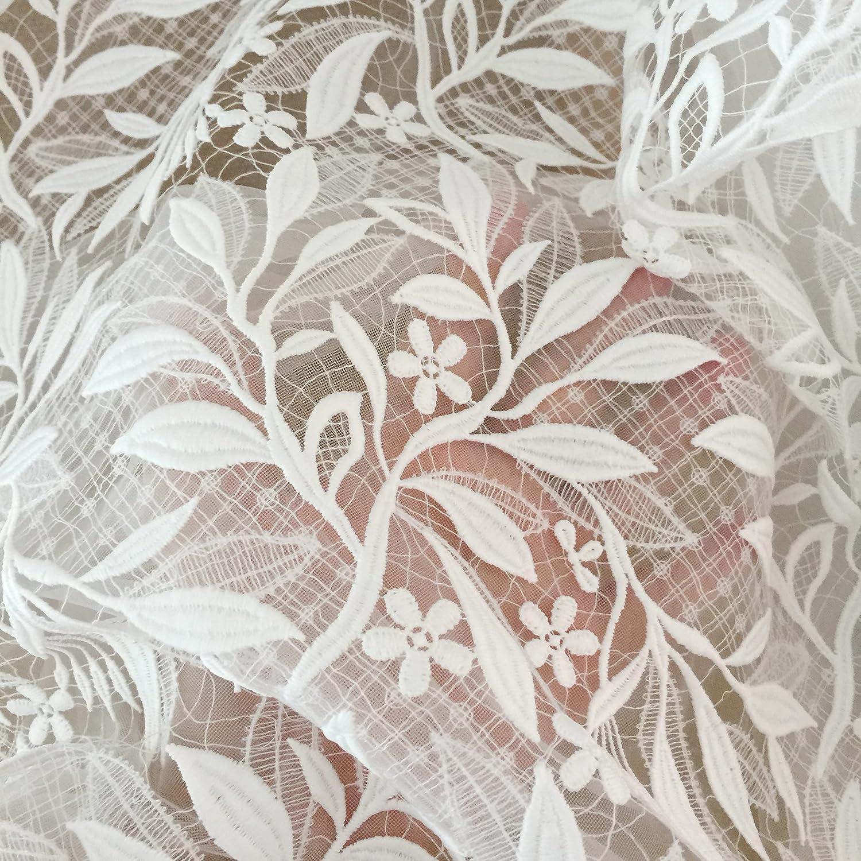 SELCRAFT Seasonal Wrap Introduction 1 Yard Alencon Chicago Mall Crcohet Wedding Fabric Boho Dress Lace