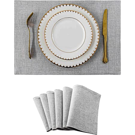 Dii 100 Cotton Basic Ribbed Placemat Set Set Of 6 Wine 6 Count Home Kitchen
