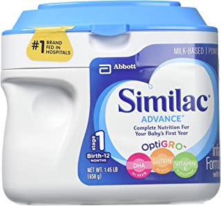Similac Advance Infant Formula with Iron, Stage 1 Powder, 23.2 Ounces