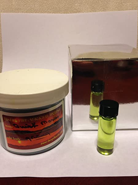 Gift Box Set With 4oz Quick Money Incense And 1 Dram Bottle Of Quick Money Oil