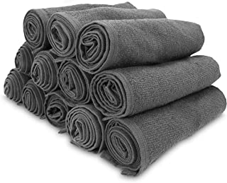 Arkwright Bleach Safe Salon Towels Pack of 12 (16 x 28 inch, Charcoal)