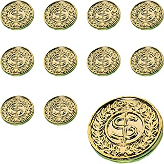 Amscan St. Patrick's Day Plastic Gold Coins Mega Value Pack, 400 Ct. | Party Favor - 392612, 10 1/4