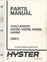Hyster Challenger H25XM, H30XM, H35XM, H40XM Parts Manual - Customer Edition