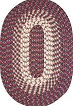 product image for Hometown 6' ROUND Braided Rug in Burgundy