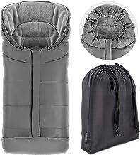 Zamboo - Saco de invierno para Silla de Paseo Joie (se adapta a Litetrax, Mytrax, Chrome) - Saco de abrigo con Forro Polar térmico, capucha, reflectores y bolsa - Gris