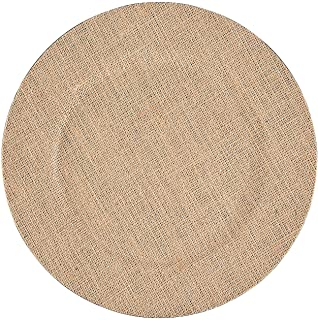 Fun Express - Burlap Wedding Chargers for Wedding - Home Decor - Entertaining - Accessories - Wedding - 6 Pieces