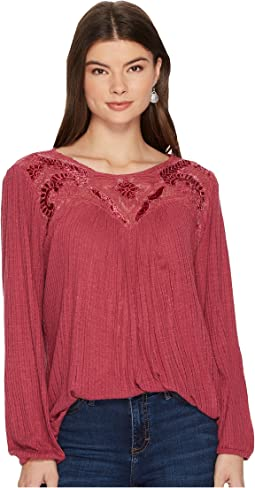 Lucky Brand Yoke Top
