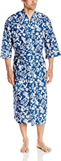 Majestic International Men's Screen Play Print Kimono Robe