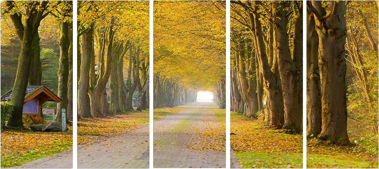 Design Art Country 受賞店 Road Below Trees-Landscape Canva Yellow 新色追加して再販 Photo