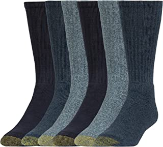 Gold Toe mens 3400E Harrington Crew 6 Pack Extended Casual Sock