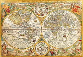 Vintage Old World Map Jigsaw Puzzle, High Quality Collection, 2000 Pieces
