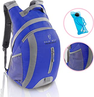 30L Hydration Pack Hiking Backpack - Ultralight, Extremely Comfortable with Double Buckle Technology - 2L BPA Free Water Bladder - For Running, Hiking, Backpacking, Cycling & Camping.