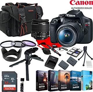 Canon EOS Rebel T7 EF-S 18-55mm Zoom KIT W/Photo Editing Software + Accessory Bundle