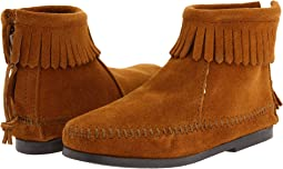 Minnetonka Kids - Back Zipper Boot Hardsole (Toddler/Little Kid/Big Kid)