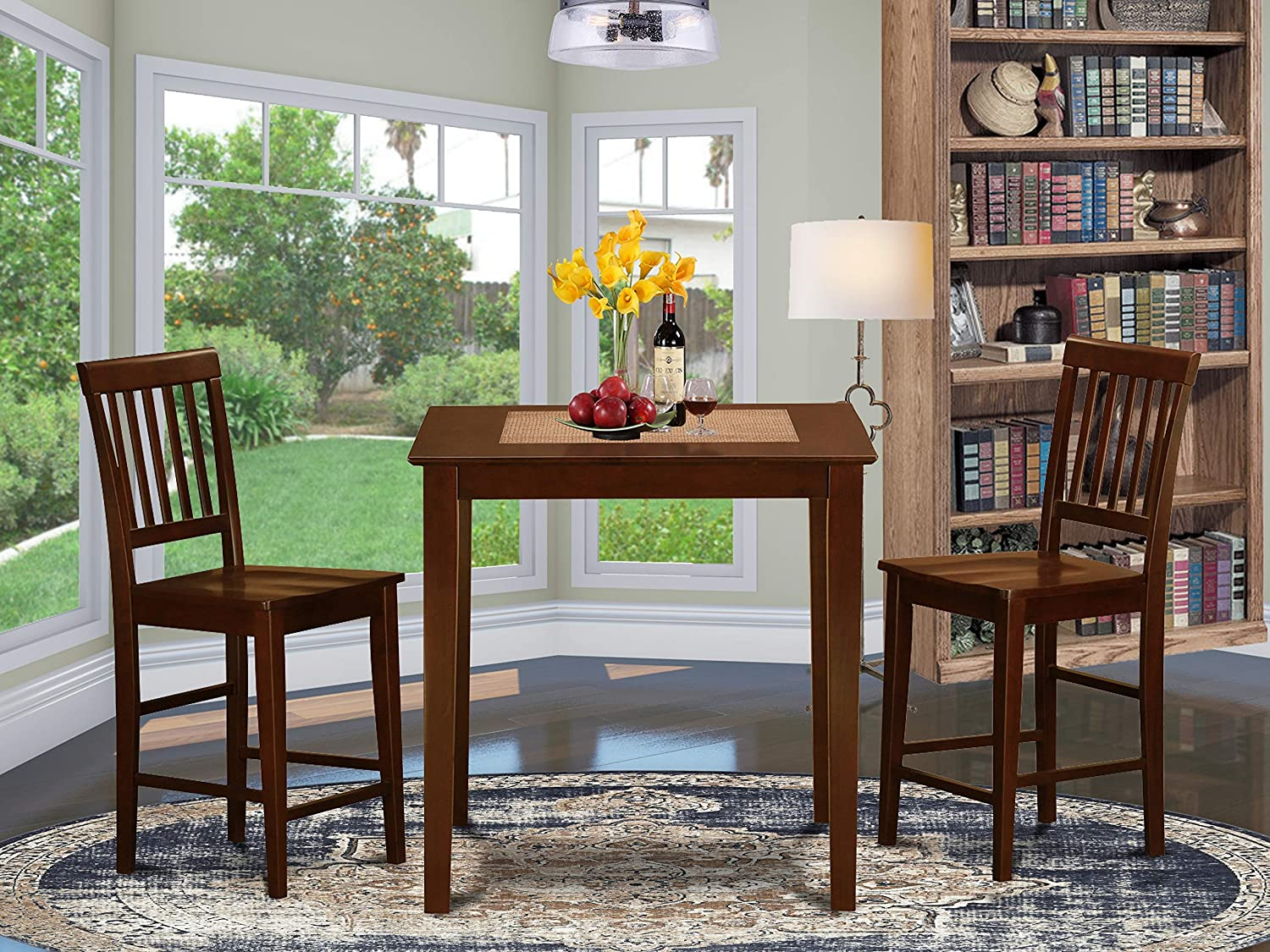 3 Pc pub Table set-counter Kitchen Chairs. height Max 56% OFF 2 and Discount is also underway