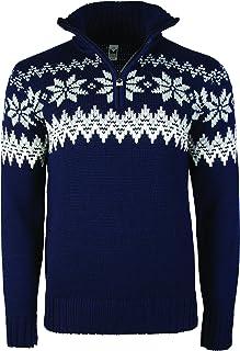 Dale of Norway Men`s Myking Pullover Sweater of 100% Air-Spun Merino Wool