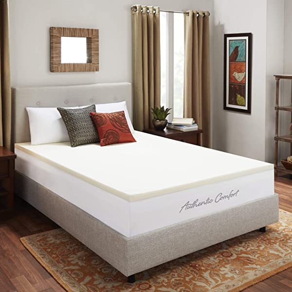 Authentic Comfort 2 Inch Breathable Memory Foam Mattress Topper Queen
